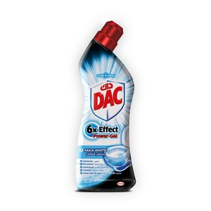 Dac 6x Effect Power Gel Toilet Cleaner Max White 750ml