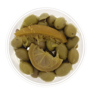 Moroccan Green Olives with Lemon 300g Approx. Weight
