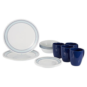 Corelle Dinner Set Folk Stitch 16pcs