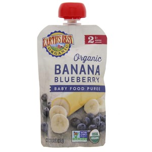 Earths Best Organic Banana Blueberry Puree 113g