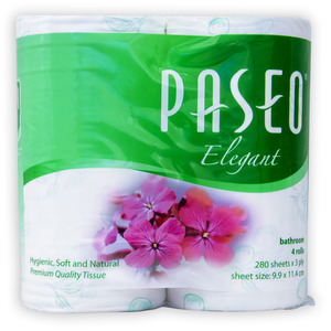 Paseo Elegant Tissue Roll Green 4pcs
