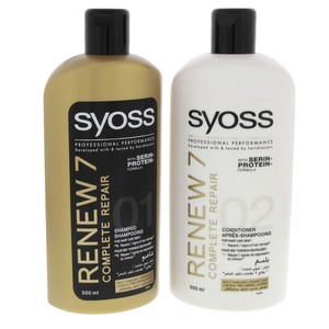 Syoss Renew 7 Complete Repair Shampoo  500ml + Conditioner 500ml