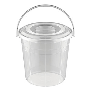 Cosmoplast Transparent Bucket With Lid 5Litre 1pc
