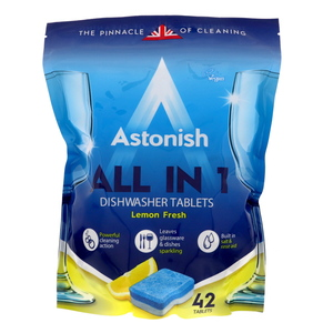 Astonish All in 1 Dishwasher Tablets Lemon Fresh 42pcs