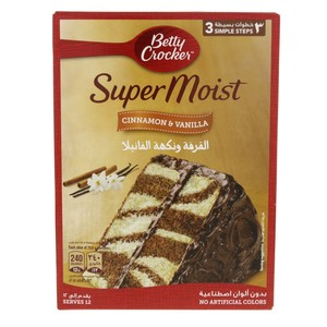 Betty Crocker SuperMoist Cake Mix Cinnamon & Vanilla 500 Gm