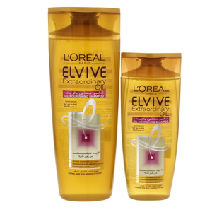 L'oreal Elvive Extraordinary Oil Nourishing Shampoo For Normal Hair 400ml + 200ml