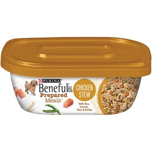 Purina Beneful Prepared Dog Food Meal Chicken Stew Tub  283 Gm
