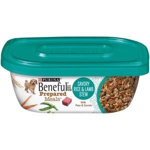 Purina Beneful Prepared Dog Food Meal Rice And Lamb Stew Tub 283 Gm
