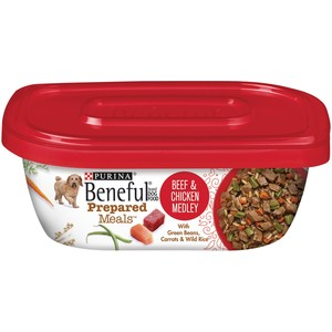 Purina Beneful Prepared Dog Food Meal Beef And Chicken Medley Tub 283 Gm