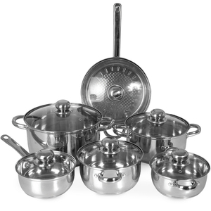Chefline Stainless Steel Cookware Set 12pcs