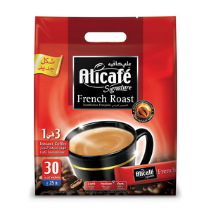 Alicafe Signature 3 in 1 French Raost Coffee 30 x 25g