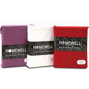 Homewell Bed Sheet King 3pc Plain Assorted