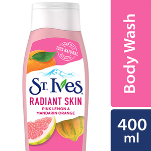 St.Ives Even And Bright Pink Lemon And Mandarin Exfoliating Body Wash 400ml