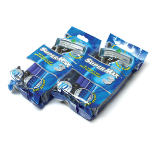 Super Max Triple Blade Disposable Razor 10pcs +10