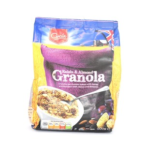Grain Raisin & Almond Granola 500g