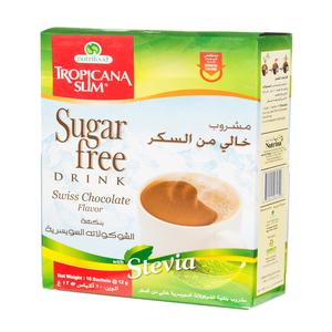 Tropicana Slim Swiss Chocolate Flavor Drink With Stevia Sugar Free 10 x 12g