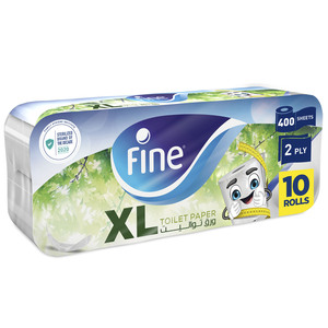 Fine Sterilized Toilet Paper Extra Long 2ply 400 Sheets x 10pcs