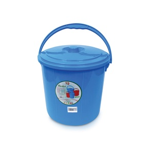 Lulu Bucket With Lid 12Ltr Assorted Colour