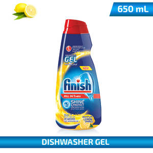 Finish Concentrate Gel Dishwasher Lemon 650ml