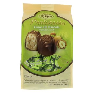 Crispo Pralinesse Milk Chocolate with Hazelnut Cream & Cereal 1kg