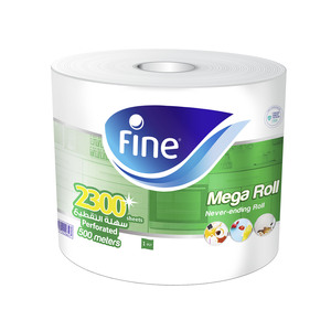 Fine Paper Towel Mega Roll 500m 2300 Sheets