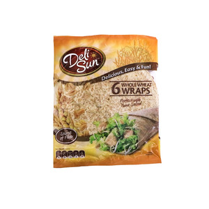 Deli Sun Whole Wheat Wraps 6pcs 360g