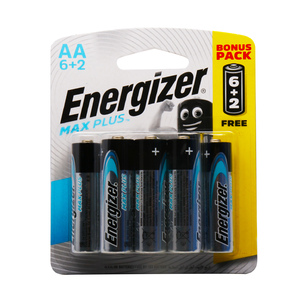 Energizer Max Plus AA Alkaline Battery 6+2