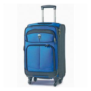Delsey Woodburry 4Wheel Soft Trolley 82cm Blue