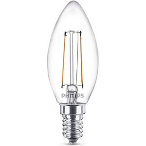 Philips LED Bulb Filament 2-25W E14 WW B35 ND 1CT APR
