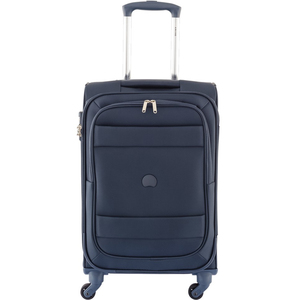 Delsey Indiscrete 4Wheel Soft Trolley 55cm Blue