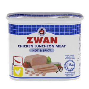 Zwan Chicken Luncheon Meat Hot And Spicy 340g