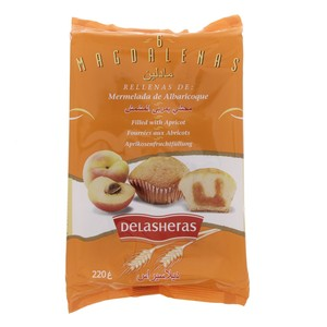 Delasheras Magdalenas Filled With Apricot 220g