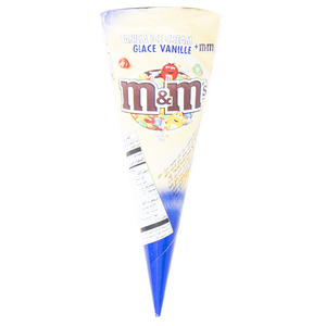 M&M's Vanilla Cone Ice Cream 1pc