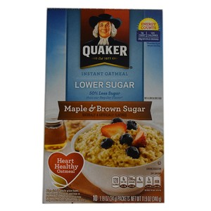 Quaker Instant Oatmeal Maple & Brown Sugar 340g