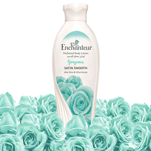 Enchanteur Satin Smooth Gorgeous Lotion with Aloe Vera & Olive Butter 250ml