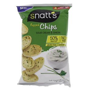 Snatt's Popped Chips Sour Cream and Onion 75g