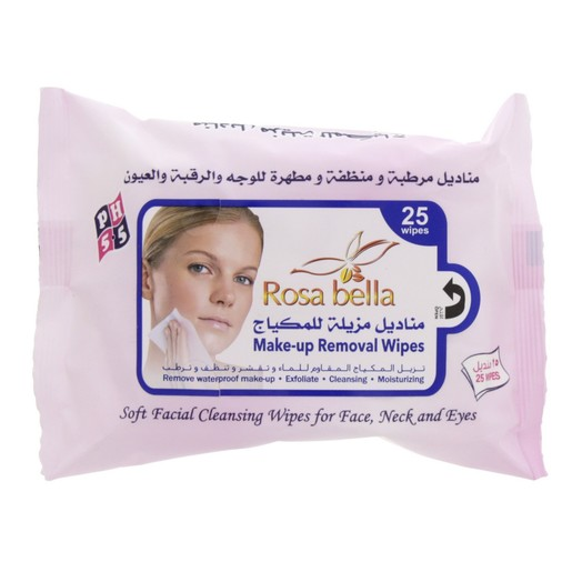 Rosa Bella Make - Up Removal Wipes 25pcs