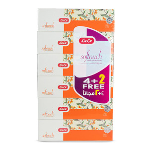 Lulu Softouch Facial Tissue 2ply 150 Sheets 4 + 2