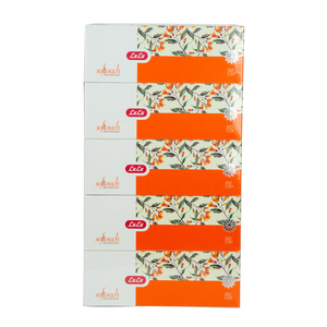 Lulu Soft Touch White Facial Tissue Rose 200pcs x 2ply 5pcs