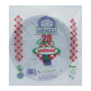 Gulfmaid Disposable Round Tray No.26 20pcs