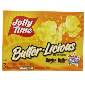 Jolly Time Butter.Licious Microwave Pop Corn 298g