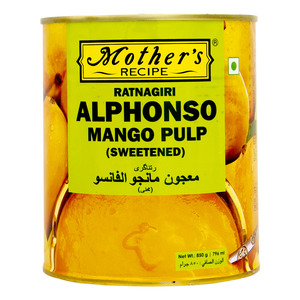 Mother Recipe Ratnagiri Alphonso Mango Pulp Sweetened 850g