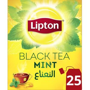 Lipton Flavoured Black Tea Mint 25 Teabags