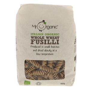 Mr.Organic Italian Organic Whole Wheat Fusilli Pasta 500g