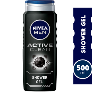 Nivea Active Charcoal Shower Gel for Men 500ml