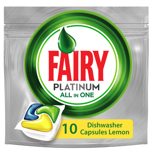 Fairy Platinum Dishwashers Capsules Lemon 10pcs 149g