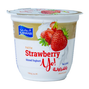 Al Rawabi Stirred Yoghurt Strawberry 130g