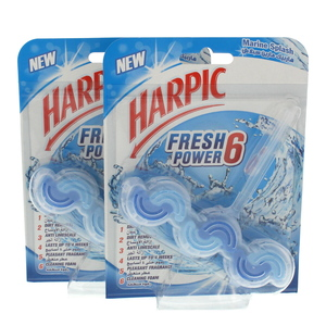 Harpic Fresh Power 6 Marine Splash 2 x 39g