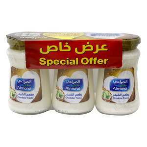 Almarai Spreadable Cheddar Cheese 3 x 200g
