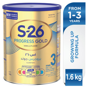 Wyeth S26 Progress Gold Stage 3 1-3 Years Premium Milk Powder Tin for Toddlers 1.6kg